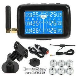 Tpms Voiture Système De Surveillance De La Pression Des Pneus LCD Pneus + 6 Capteur Externe + Antenne