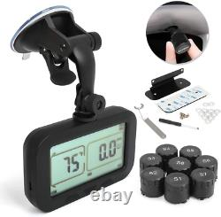 Tpms, Wireless Tire Pressure Monitoring System For Rv, Remorque, Coach, Motor Hom