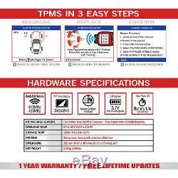 Ts508k Tpms Program Service De Diagnostic Outil De Réinitialisation + Capteur De Pression Des Pneus Moniteur