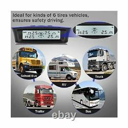 Tymate Tire Pressure Monitoring System Rv Trailer Solar Charge 5 Modes D'alarme Nouveau