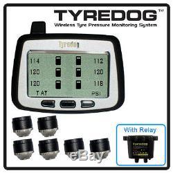 Tyredog Tpms 6 Cap Capteur Rv Système De Surveillance De La Pression Des Pneus