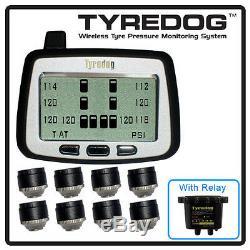 Tyredog Tpms Avec 8 Cap Capteur Rv La Pression Des Pneus Système De Surveillance Des Navires Priorité
