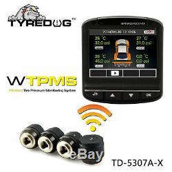 Tyredog Tpms + Dvr Système Sans Fil Des Pneus Tpms Surveillance De La Pression Livraison Rapide