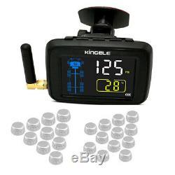 Wireless Tpms Camion Remorque Pneus Système De Surveillance De La Pression, 22 Pneus Noir
