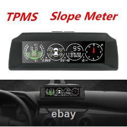 X91 Gps Slope Meter Moniteur De Pression De Pneus Inclinomètre Tpms Alarme De Vitesse