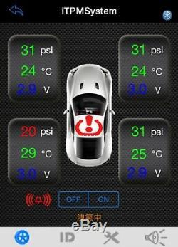 #tyre La Pression Des Pneus Moniteur Système Bluetooth Tpms Auto Moto Android Iphone
